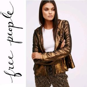Final Price Free People Sequin Hood Jacket NWT